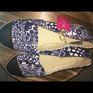 Lilly Pulitzer for Target Upstream Espadrilles NWT